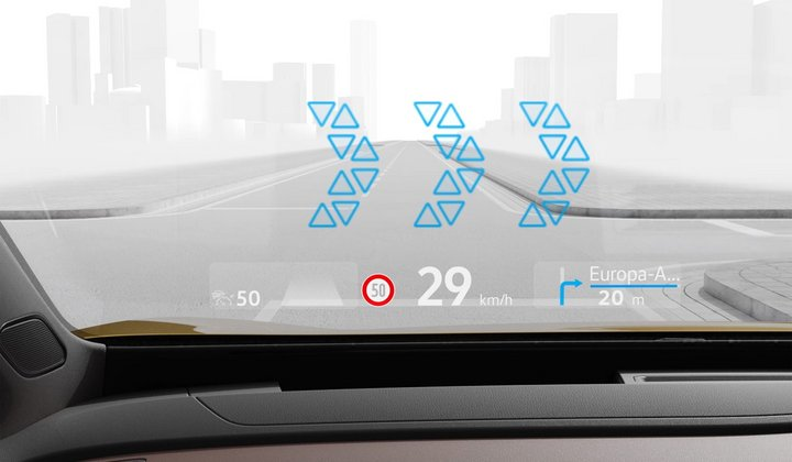 vw headup display id3 id4